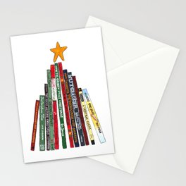 Christmas (Book) Tree Stationery Cards