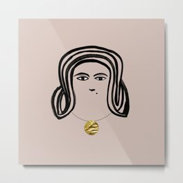 Sun Princess Minimalist Painting  Metal Print