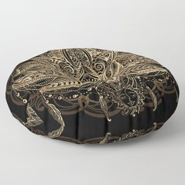 Lotus Black & Gold Floor Pillow