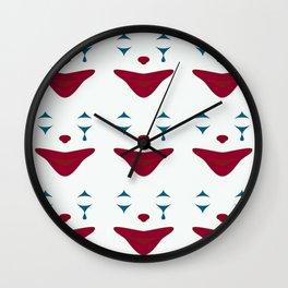 Minimalist Clown Makeup Wall Clock