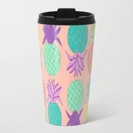 pineapple small coral Travel Mug