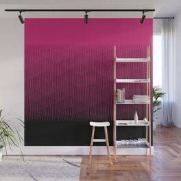 Magenta to Black Ombre Signal Wall Mural