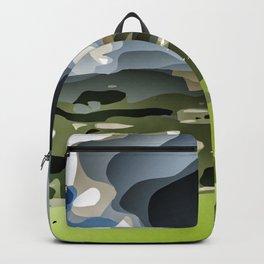 Peveril Castle. Backpack