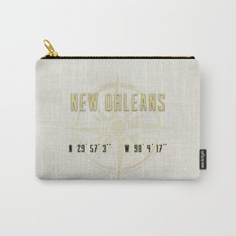 New Orleans - Vintage Map and Location Carry-All Pouch