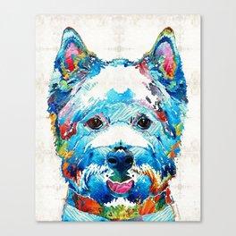Colorful West Highland Terrier Dog Art Sharon Cummings Canvas Print