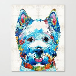 Colorful West Highland Terrier Dog Art Sharon Cummings Canvas Print