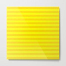 Bright , yellow , striped Metal Print