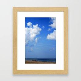 boat> Framed Art Print