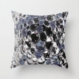 bulles en noir et blanc Throw Pillow