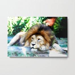 Lion Art One Metal Print