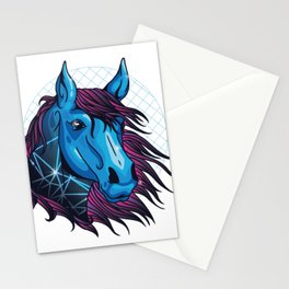 neon horse  Stationery Cards