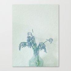 Vase of Bluebells Canvas Print