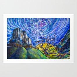Galactic Manipura Art Print