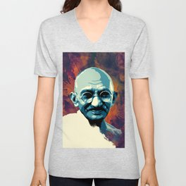 Mahatma Gandhi  Unisex V-Neck