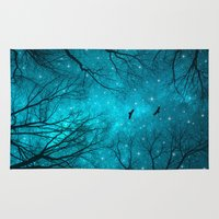 forest Area & Throw Rugs featuring Stars Can't Shine Without Darkness  by soaring anchor designs