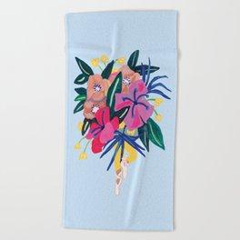 Ballerina Floral Babe Beach Towel