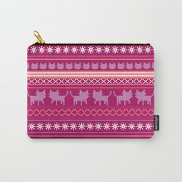 Ugly Christmas Cat Sweater Carry-All Pouch