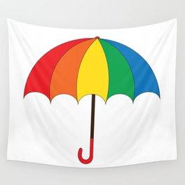 Rainbow umbrella Wall Tapestry