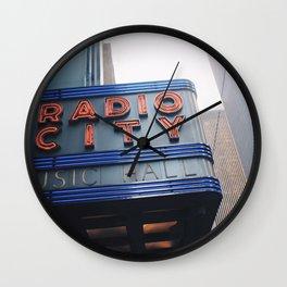 Radio City Music Hall Wall Clock