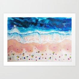 Weekend Beaches Art Print