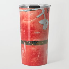 Etched Scratchings of a Mad Red Monk Travel Mug