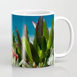 Fresh seaside plants and yellow flower, Ericeira, Portugal Coffee Mug