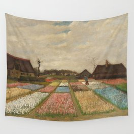 Classic Art - Flower Beds in Holland - Vincent van Gogh Wall Tapestry