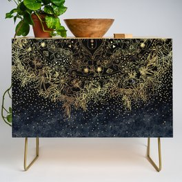 Stylish Gold floral mandala and confetti Credenza