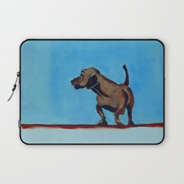Doxie Dog in Red White and Blue Laptop Sleeve