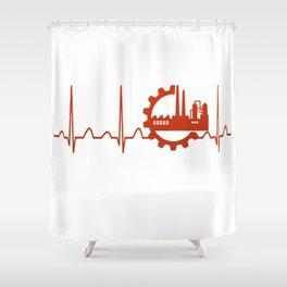 Industrial Engineer Heartbeat Shower Curtain