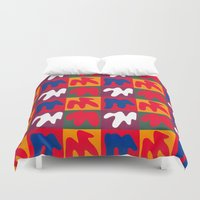 matisse Duvet Covers featuring M for Matisse by CHOCOLORS