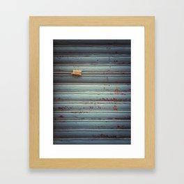 Closed shutter Framed Art Print