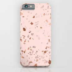 Rose Gold Pink Terrazzo iPhone 6 Slim Case