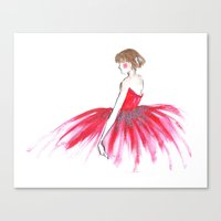 ballerina Canvas Prints featuring Ballerina !!  by Rashmi Dagwar
