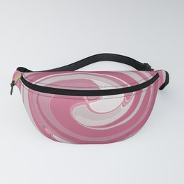 Spiral in Pink and White Fanny Pack