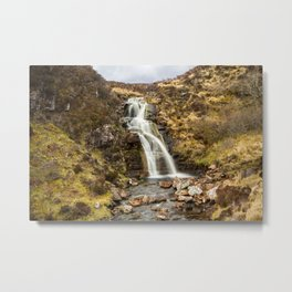 Moorland Waterfall Metal Print