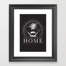Find Your Own Way Home Framed Art Print