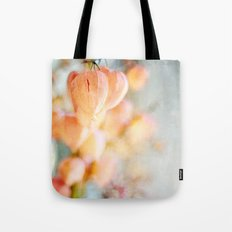 Chinese Lantern Pods and Candlelight Still Life Painterly Tote Bag