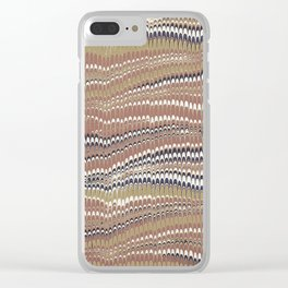 Electrified Ripples Tan Clear iPhone Case