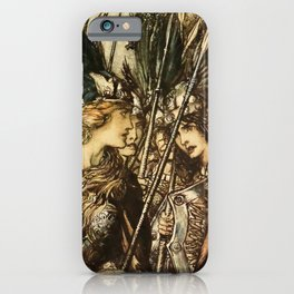 """Sisters, Your Help!"" by Arthur Rackham iPhone Case"