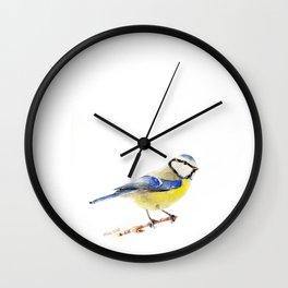 Eurasian Blue Tit Wall Clock