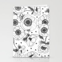 oana befort Stationery Cards featuring Anemone by Oana Befort