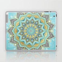 Cyan & Golden Yellow Sunny Skies Medallion Laptop & iPad Skin