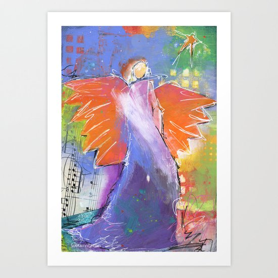 morning angel Art Print