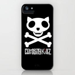CuriosityKillz skull logo iPhone Case