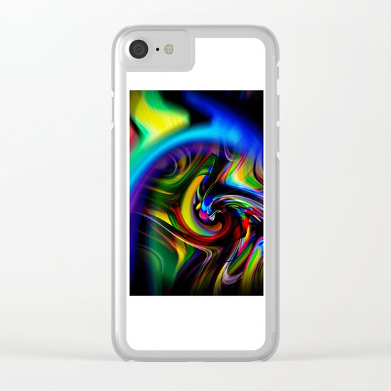 Abstract Perfection 19 Clear iPhone Case