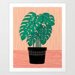 Cheese Plant - Trendy Hipster art for dorm decor, home decor, ferns, foliage, plants Art Print