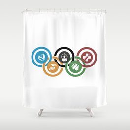 Zombie rings! Shower Curtain