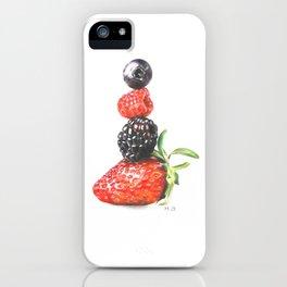 Summer berries iPhone Case