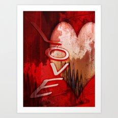 Love abstract Art Print